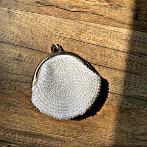 Vintage Mini Beaded Coin Purse